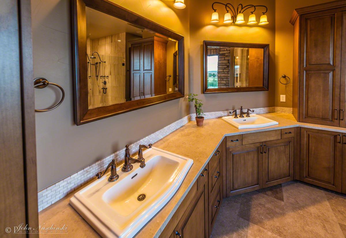 of Colorado Home Master Bathroom Sinks Scenic Colorado