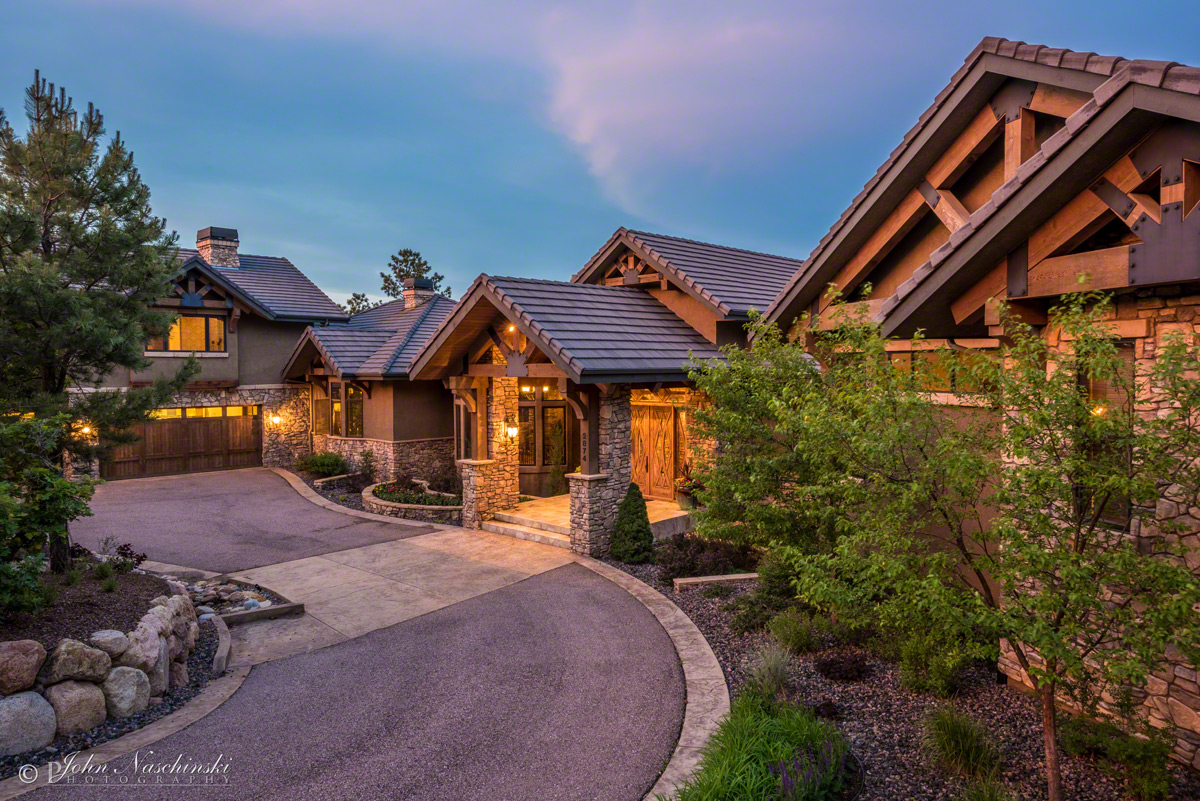Front Exterior Luxury Home In Colorado Springs 03 Scenic Colorado Pictures Colorado Photos