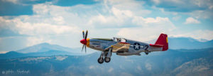 P-51C Mustang Tuskegee Airmen taking off over the Rockies - Photo 01