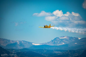 North American T-28B Flying Over Colorado Front Range Mountains – Photo 10