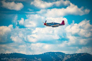 P-51C Mustang Tuskegee Airmen Flying over the Rocky Mountains – Photo 04
