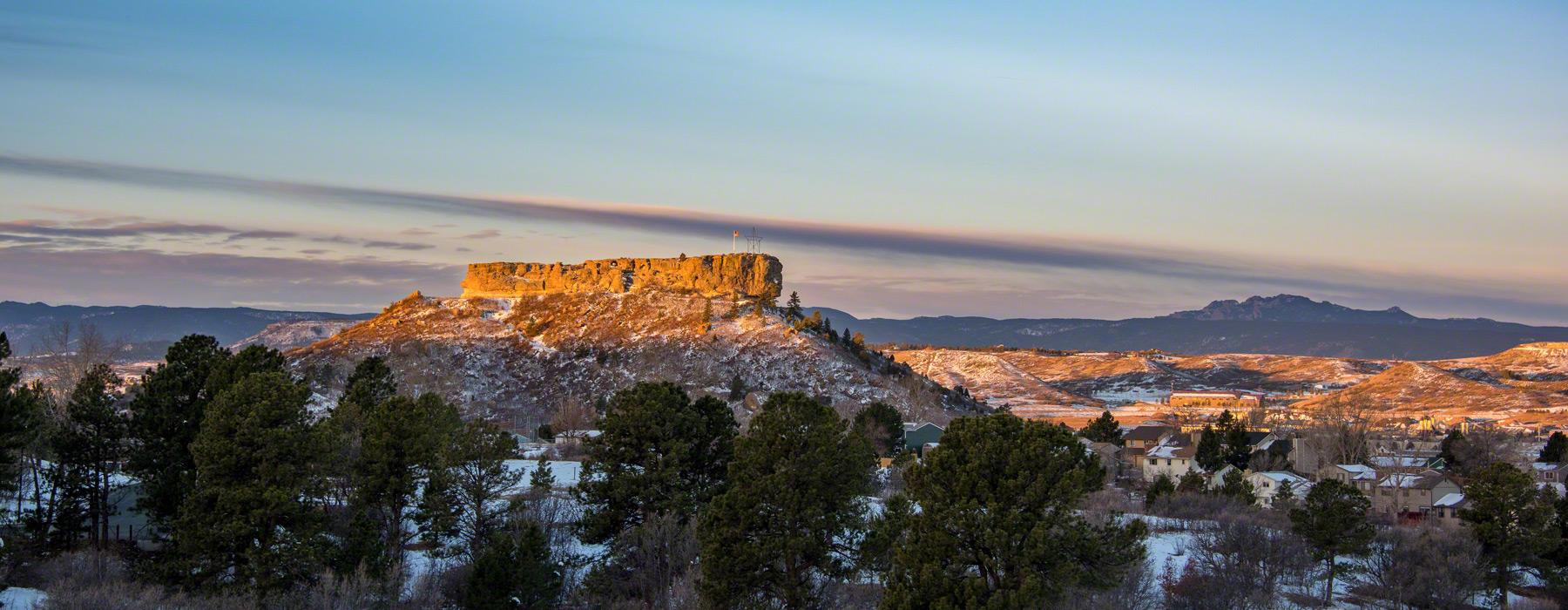 Castle Rock Co Winter Landscape Photographs
